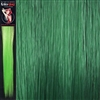 Colour Flash 16 inches Synthetic Clip in Hair Extensions Colour Emerald Green