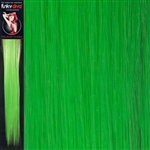 Colour Flash 16 inches Synthetic Clip in Hair Extensions Colour Lime Green