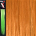 Colour Flash 16 inches Synthetic Clip in Hair Extensions Colour Orange