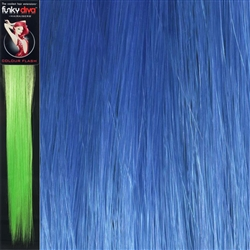 Colour Flash 16 inches Synthetic Clip in Hair Extensions Colour Royal Blue