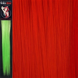 Colour Flash 16 inches Synthetic Clip in Hair Extensions Colour Red