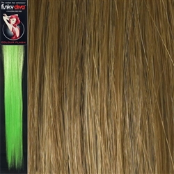 Colour Flash 16 inches Synthetic Clip in Hair Extensions Colour Strawberry Blonde