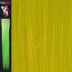 Colour Flash 16 inches Synthetic Clip in Hair Extensions Colour Yellow