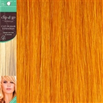 Clip and Go 1 High Heat Fiber Clip In Hair Extensions 18 Inches Amber