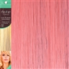 Clip and Go 1 High Heat Fiber Clip In Hair Extensions 18 Inches Baby Pink