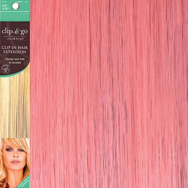 Hairaisers Clip And Go 1 High Heat Fiber Clip In Hair Extensions
