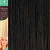 Clip and Go 1 High Heat Fiber Clip In Hair Extensions 18 Inches Brown