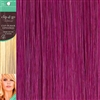Clip and Go 1 High Heat Fiber Clip In Hair Extensions 18 Inches Cerise