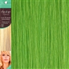 Clip and Go 1 High Heat Fiber Clip In Hair Extensions 18 Inches Lime Green