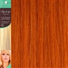 Clip and Go 1 High Heat Fiber Clip In Hair Extensions 18 Inches Orange