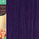 Clip and Go 1 High Heat Fiber Clip In Hair Extensions 18 Inches Purple