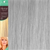 Clip and Go 1 High Heat Fiber Clip In Hair Extensions 18 Inches White
