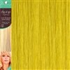 Clip and Go 1 High Heat Fiber Clip In Hair Extensions 18 Inches Yellow