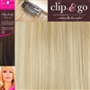 "Clip and Go 4 High Heat Fiber Clip In Hair Extensions 18"" Colour 18/PB"
