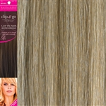 "Clip and Go 4 High Heat Fiber Clip In Hair Extensions 18"" Colour 18/SB"
