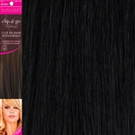 "Clip and Go 4 High Heat Fiber Clip In Hair Extensions 18"" Colour 1B"