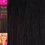 "Clip and Go 4 High Heat Fiber Clip In Hair Extensions 18"" Colour 1B/99J"