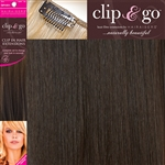 "Clip and Go 4 High Heat Fiber Clip In Hair Extensions 18"" Colour 2/4"
