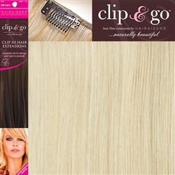 "Clip and Go 4 High Heat Fiber Clip In Hair Extensions 18"" Colour 24/PB"