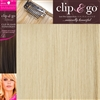 "Clip and Go 4 High Heat Fiber Clip In Hair Extensions 18"" Colour 24/SB"