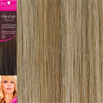 "Clip and Go 4 High Heat Fiber Clip In Hair Extensions 18"" Colour 27/SB"