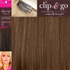 "Clip and Go 4 High Heat Fiber Clip In Hair Extensions 18"" Colour 6/27"