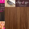 "Clip and Go 4 High Heat Fiber Clip In Hair Extensions 18"" Colour 8/10"