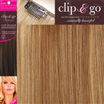 "Clip and Go 4 High Heat Fiber Clip In Hair Extensions 18"" Colour 913D"