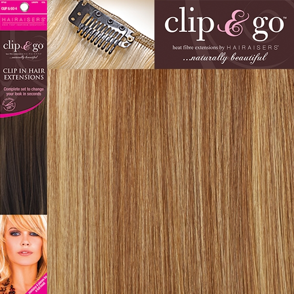 Hairaisers Clip And Go 4 High Heat Fiber Clip In Hair Extensions