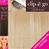 "Clip and Go 4 High Heat Fiber Clip In Hair Extensions 18"" Colour BB"