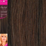 "Clip and Go 4 High Heat Fiber Clip In Hair Extensions 18"" Colour P4/33"