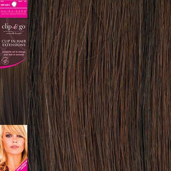 Hairaisers Clip And Go 4 High Heat Fiber Clip In Hair Extensions