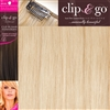 "Clip and Go 4 High Heat Fiber Clip In Hair Extensions 18"" Colour PB"