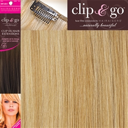 "Clip and Go 4 High Heat Fiber Clip In Hair Extensions 18"" Spring Honey"