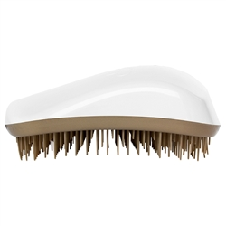 Dessata Detangling Hairbrush White and Old Gold