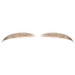 Fake Eyebrows C. Real Human Hair