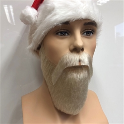 Short Father Christmas Beard and Moustache