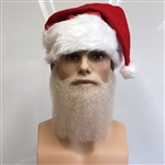Medium Length Father Christmas Beard and Moustache Set