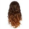 Balayage Ombre Three Quarter Hair Piece Curly Coffee Bean and Copper