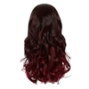 Balayage Ombre Three Quarter Hair Piece Curly Ebony and Dark Plum