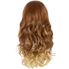 Balayage Ombre Three Quarter Hair Piece Curly Golden Honey and Swedish Blonde
