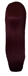 Live it Loud Volumising Hair Piece. Straight Burgundy