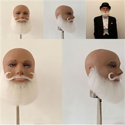 Elderly Gentleman White Beard and Moustache