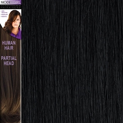 Modelgirl Partial Head Clip In Human Hair Extensions Colour 1