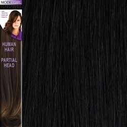 Modelgirl Partial Head Clip In Human Hair Extensions Colour 1B