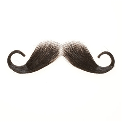 Fake Moustache Captain Hook Real Human Hair