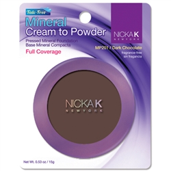 Dark Chocolate Mineral Cream to Powder Foundation by Nicka K