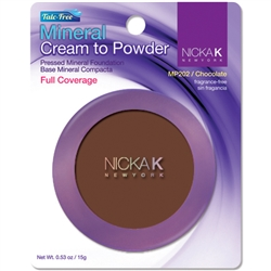 Chocolate Mineral Cream to Powder Foundation by Nicka K