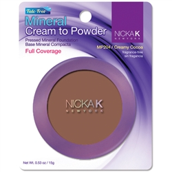 Creamy Cocoa Mineral Cream to Powder Foundation by Nicka K