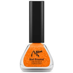 Neon Glitter Orange Nail Enamel by Nicka K New York